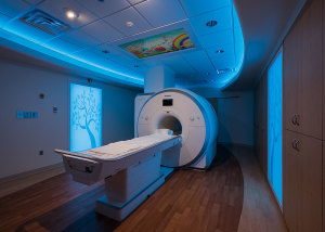 Boys Town National Research Hospital Siemens MRI Sentient Suite, Patient Centered MRI with MRI TV