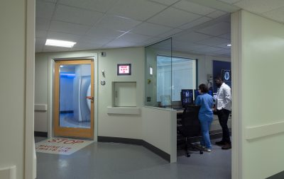Mass General Yawkey Sentient MRI Suite for best patient MRI experience with Full Glass MRI Door