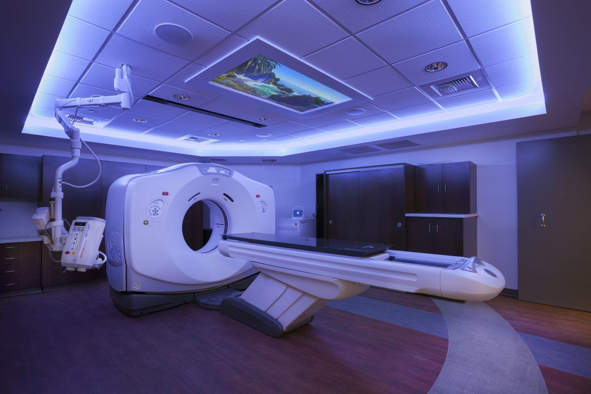 RidleyTree Cancer Center Sentient CT Suite for healing patient experience